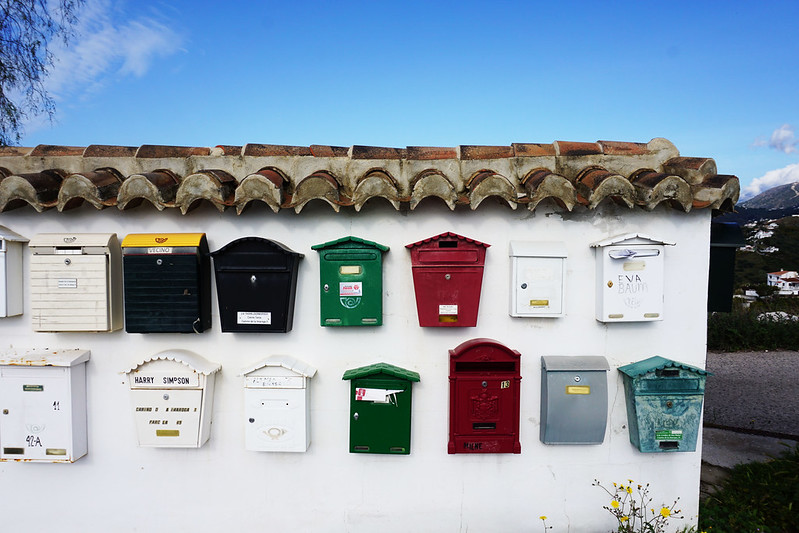 mailboxes in Frigiliana Spain