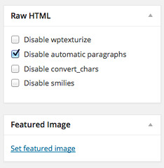Raw HTML Options on the Right Side | by amayem