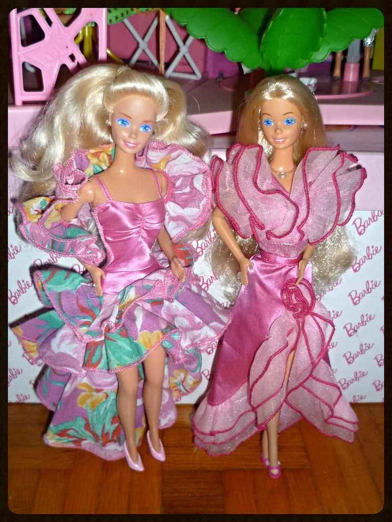 1989 Sweet Roses Barbie In 1989 Private Collection Fashion