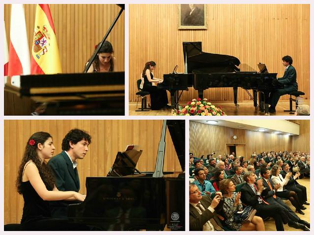 Concierto de Dúo Cervantes en la Universidad de Música Chopin en Varsovia