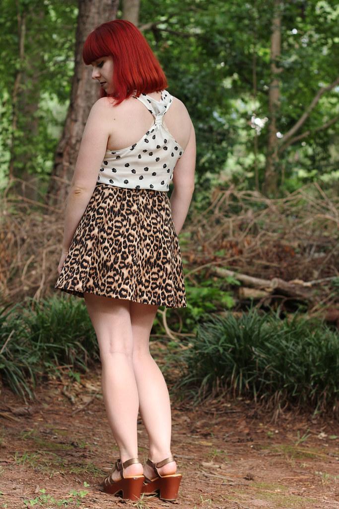Summer Look Racerback Tank Top Forever 21 Leopard Print Skater Skirt