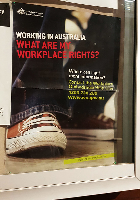 'Workplace rights' poster