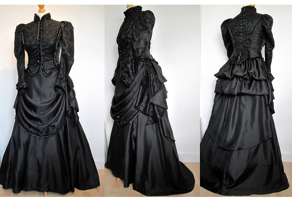 Victorian/Edwardian style mourning gown by Frockasaurus