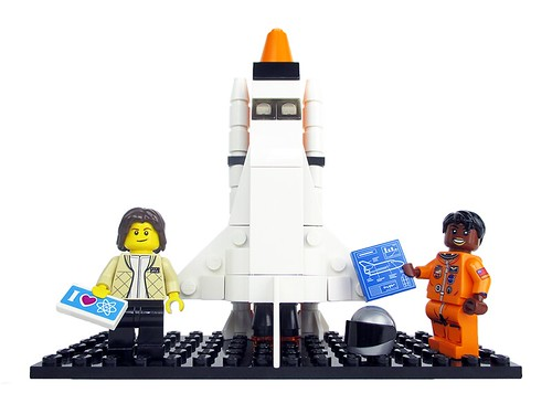 Women of NASA on LEGO Ideas - Sally Ride and Mae Jemison with Space Shuttle