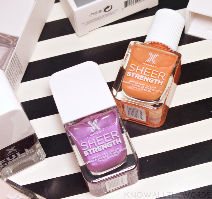 nothing but healthy nails with formula x sheer strength charisma & phenomenal (3)