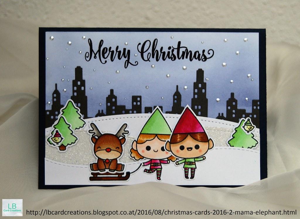 Christmas Cards 2016 #2   Mama Elephant   My second Christma…   Flickr