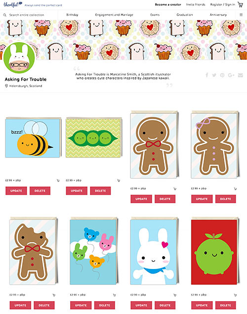 You can buy my cards at Thortful