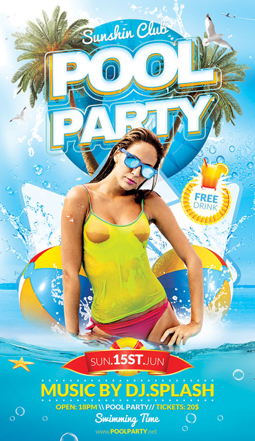 ... Pool And Beach Party Flyer Template | By BriellDesign