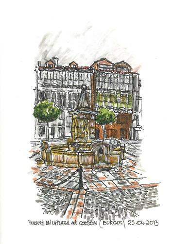 Burgos. Plaza de la Libertad. Fuente