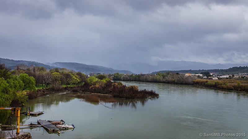 Vistas del río Ebro desde Móra d'Ebre