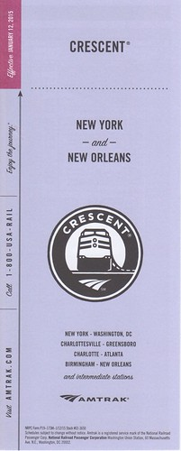 Amtrak Crescent 2015 Cover