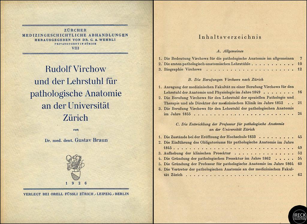 Rudolf Virchow und der Lehrstuhl für pathologische Anatomi…   Flickr
