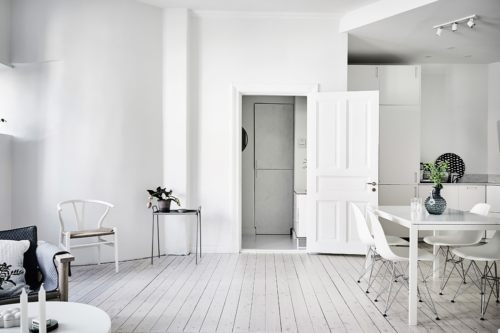 A White and Bright Home in Gothenburg