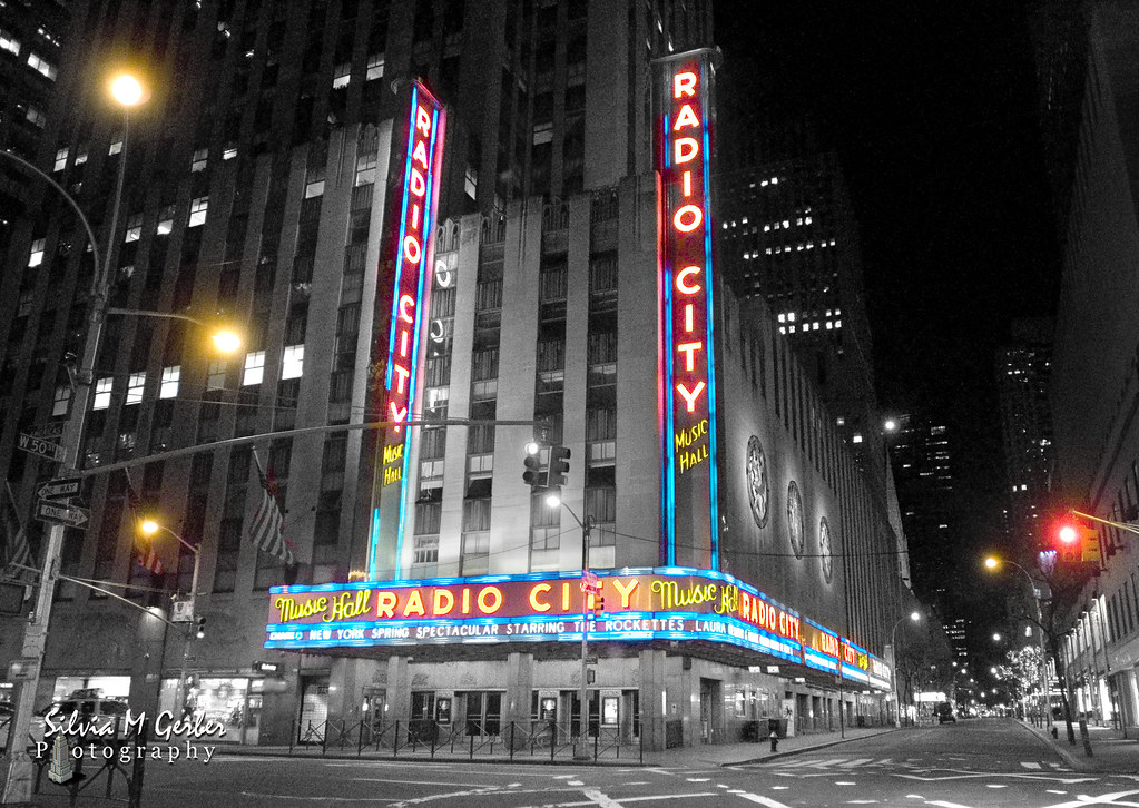 Radio city black white wiht color accents by flickonce