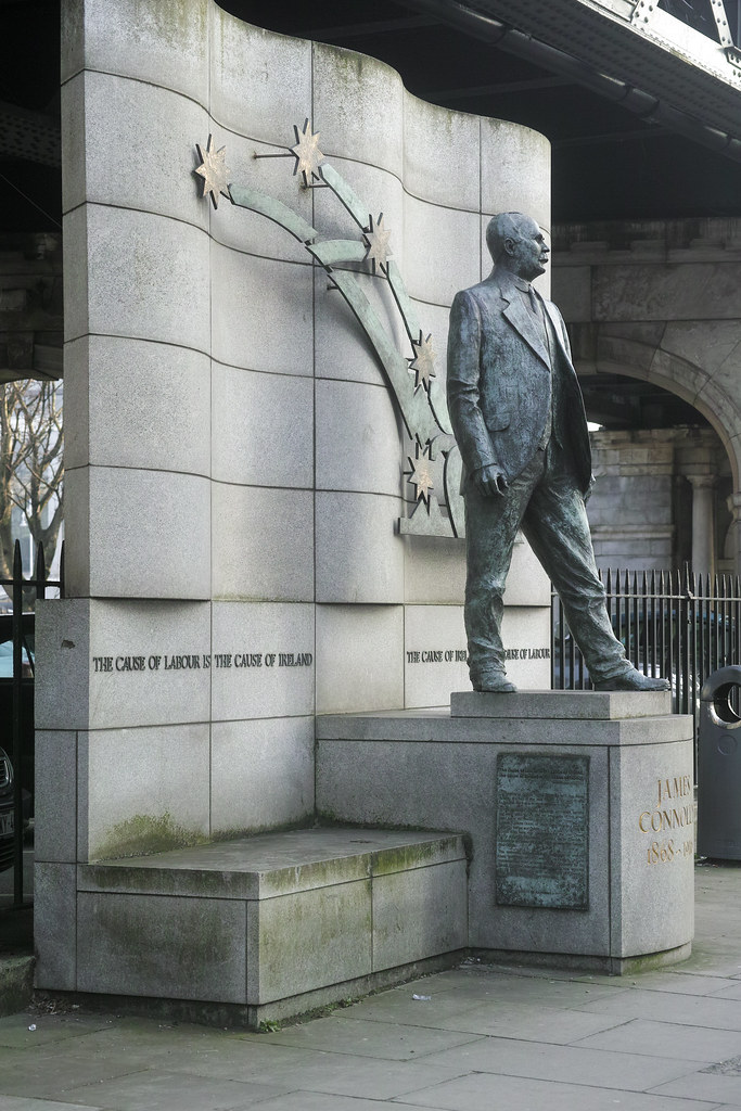 James Connolly Statue Located Near Liberty Hall