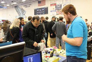 Maker Faire Nova - Michael and Booth Visitor | by Vicky TGAW