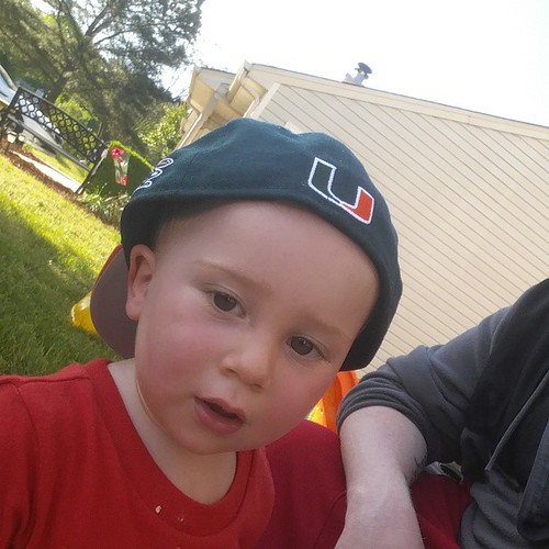 First Canes hat for little man. Little big, but looks good! | by imbigwill