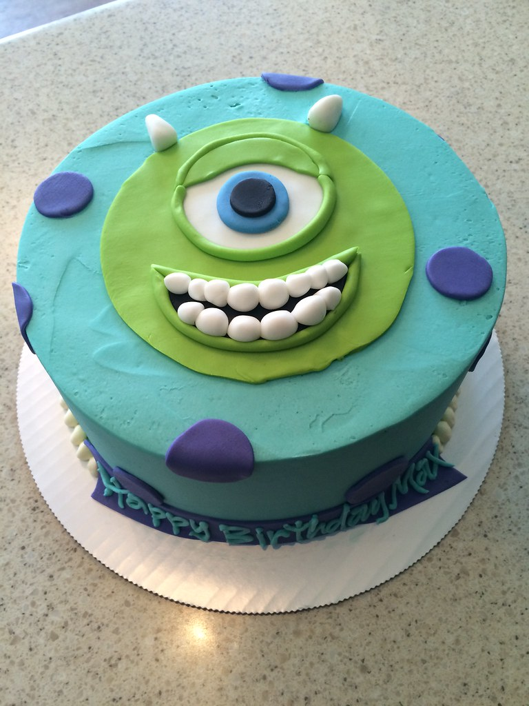 Monsters Inc Themed Birthday Cake Delicately Delicious Flickr
