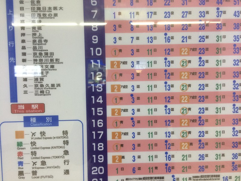羽田空港駅時刻表