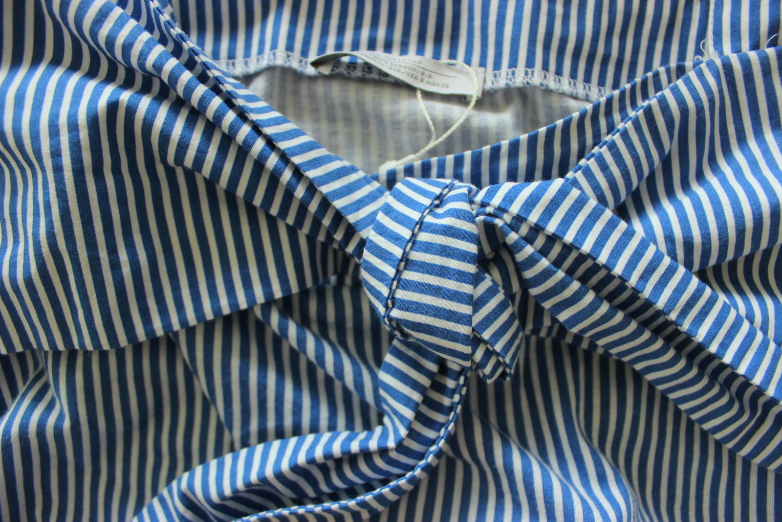 zara blue striped top