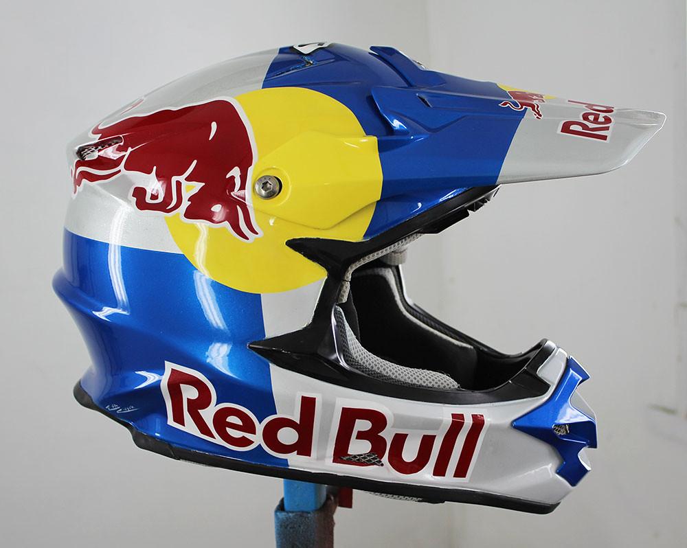 shoei red bull helmet custom steel flickr. Black Bedroom Furniture Sets. Home Design Ideas