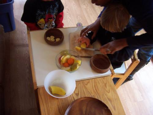 Fruit Cutting (Photo from Montessori for the Earth)