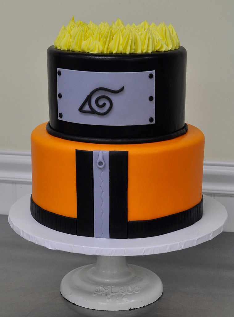 Anime Themed Birthday Cake