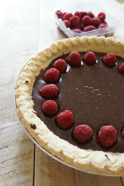nutella raspberry tart