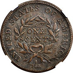 1793 Space cent reverse