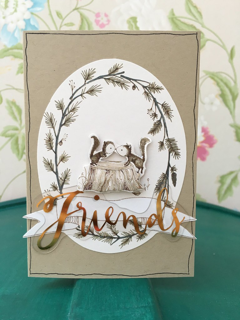 Tales from Willson Wood Squirrel Friends card by StickerKitten
