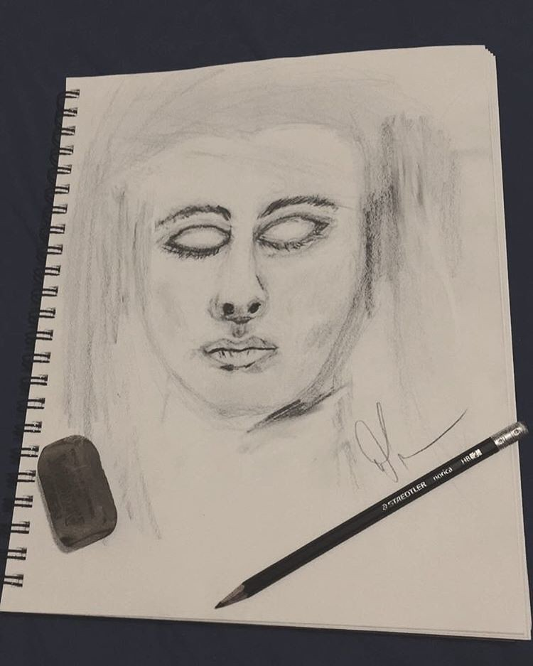 In This Drawing I Wanted Her Eyes Closed Sometimes Dreami Flickr