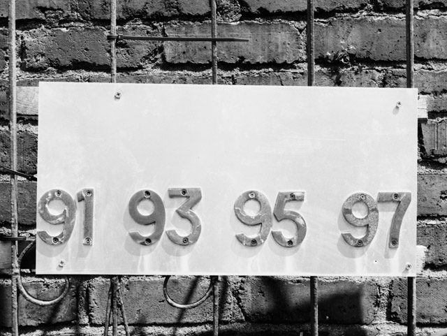numbers attached to gate