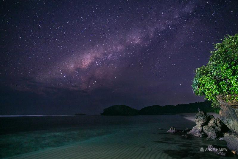 Milkyway dari Pantai Balekambang