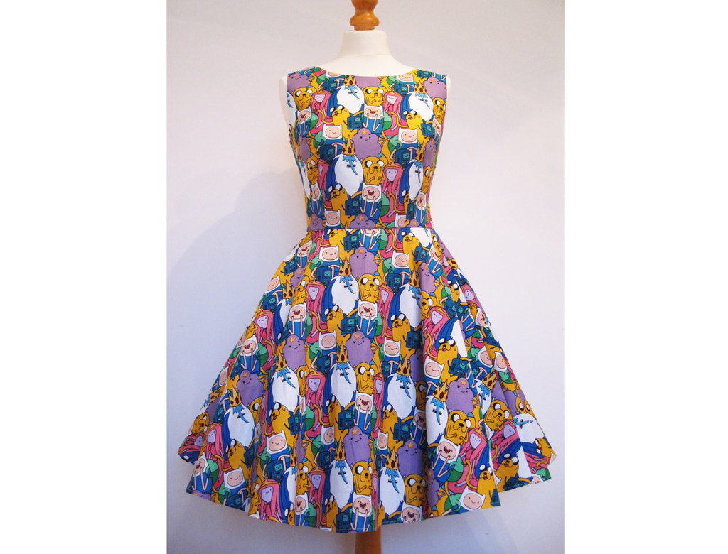 Adventure Time cotton fabric skater dress by Frockasaurus