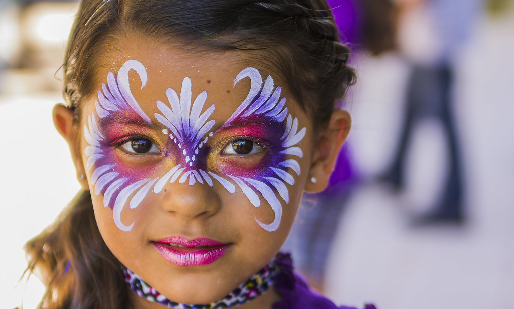 little girl with cool face paint eddie flores flickr