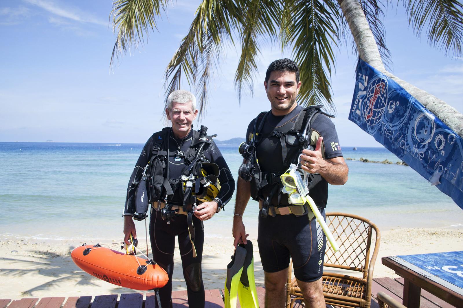 scuba diving on tioman