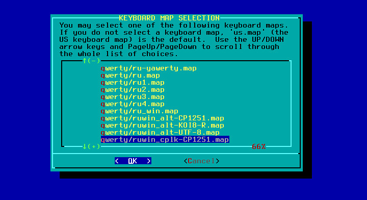 Slackware раскладка клавиатуры