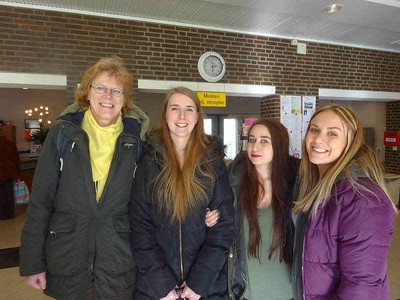 Students with teacher from Alfa College in the Netherlands