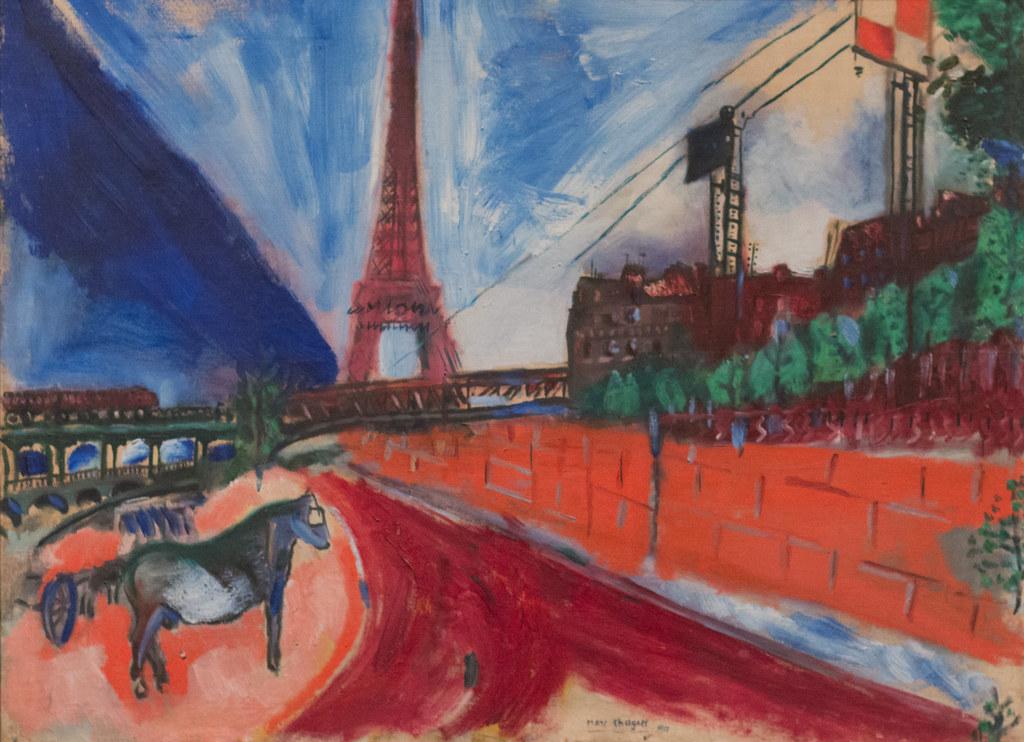 Marc Chagall, Le Pont de Passy et la Tour Eiffel, 1911 ...