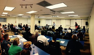 Councilmember Mitch O'Farrell at the April EVNW meeting. | by evnw.la