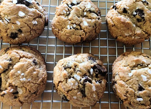 Salted Chocolate Chunk Cookies | by NoshWithMe