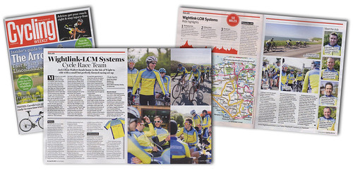 Cycling Weekly magazine feature article on the Wightlink - LCM Systems Cycle Race Team. | by s0ulsurfing