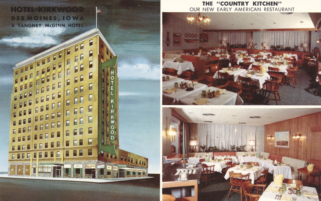 Hotel Kirkwood Des Moines Iowa By The Cardboard America Archives