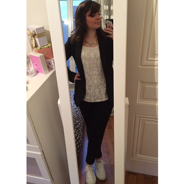 ootd converse blanche