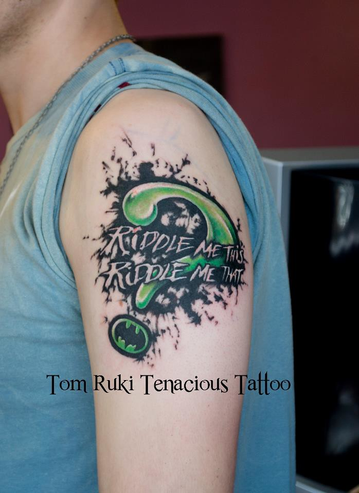 Riddle Me This | Custom Tattoo design by Tom Ruki For ...