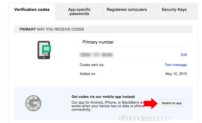 How to add security to google account step1