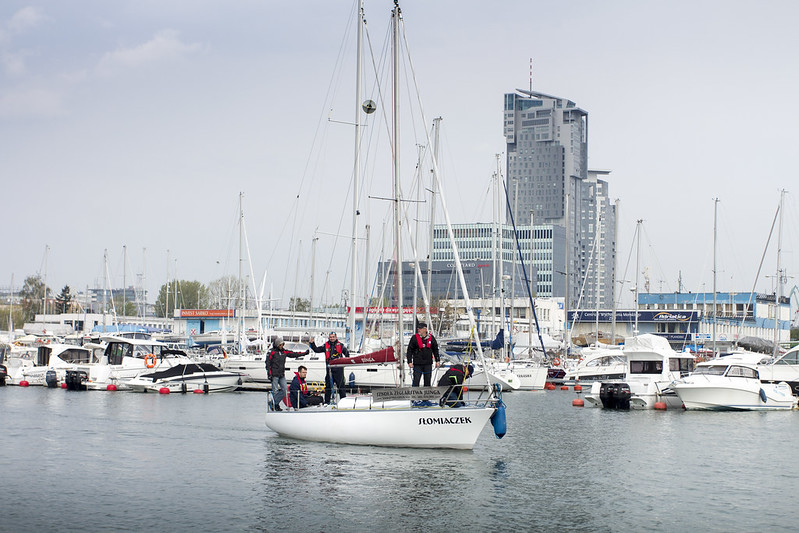 Marina in Gdynia & Sea Towers Skyscrapers