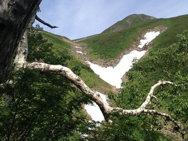 白山 平瀬道 カンクラ雪渓