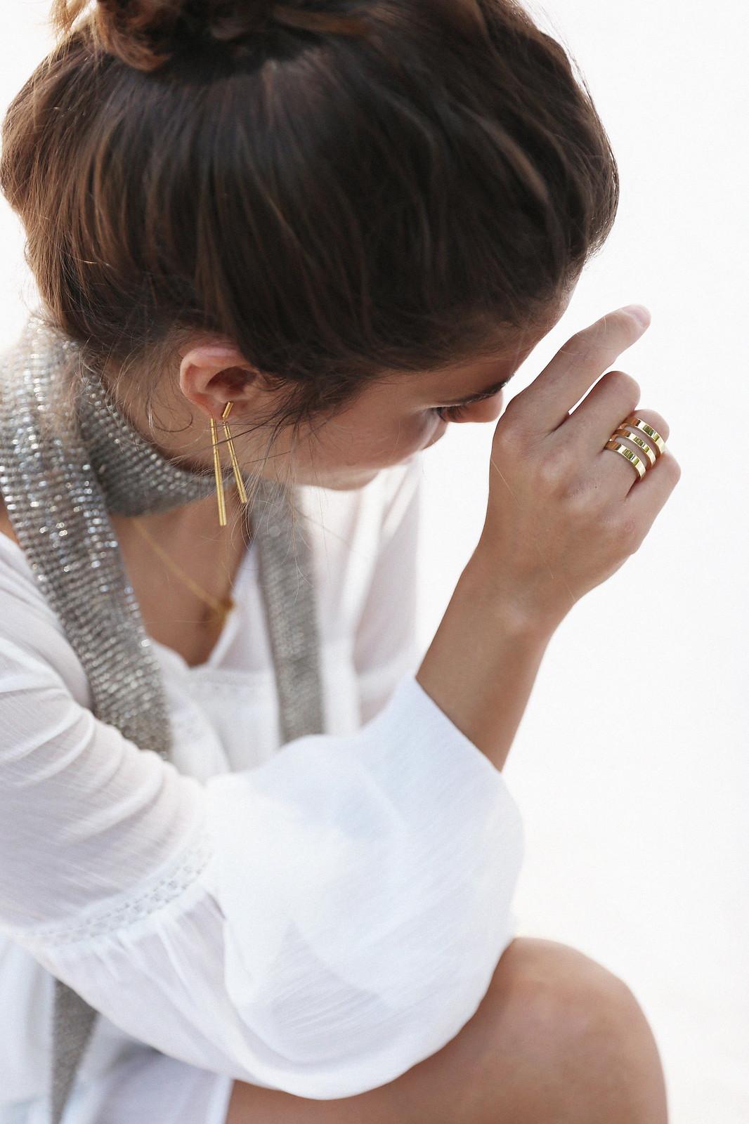 Jessie Chanes Seams for a desire Short White Dress-9
