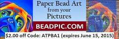paper bead art